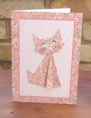 Origami Cat Pink