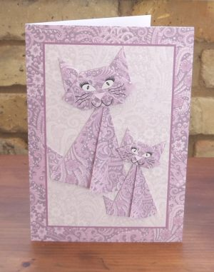 Origami Cats Lilac