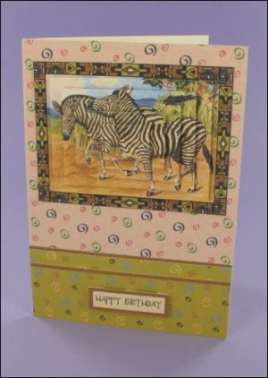 Zebra Pyramage card