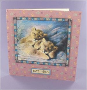 Cute Lion Cubs card