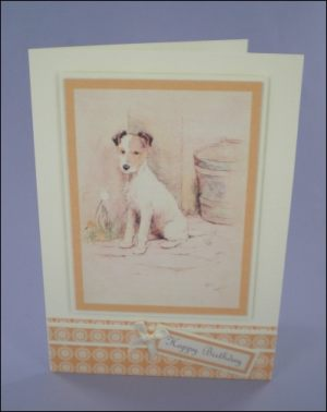 Cecil Aldin Fox Terrier card