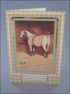 Cecil Aldin Horse card