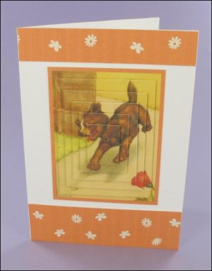 Peter Newell Puppy card