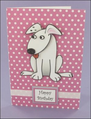 Wagtail Decoupage Birthday Card