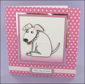 Wagtail Square Decoupage Card