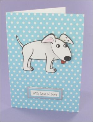Wagtail Blue Polka Dot Card