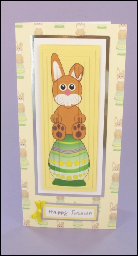 Bunny on Egg Tall Easter card