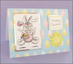 Mad Bunny Easter card