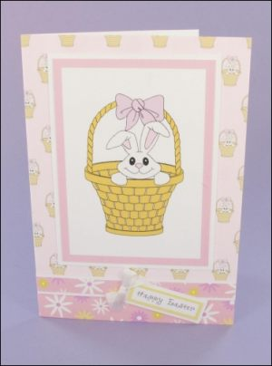 Cute Bunny Easter card