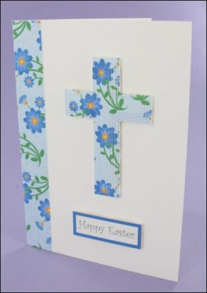 Blue Easter Cross card