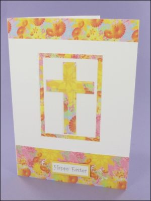 Floral Easter Cross card