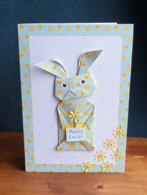 Origami Easter Bunny Pastel Green