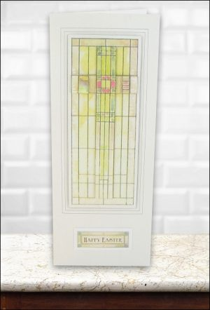 Stained Glass Large Cross Easter card