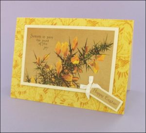 Flowering Thorns Easter card