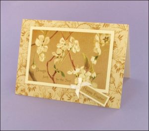 Apple Blossom Easter card