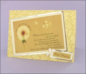 Dandelion Clock Best Wishes card