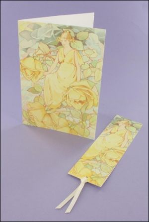 Dream Roses Note card & Bookmark