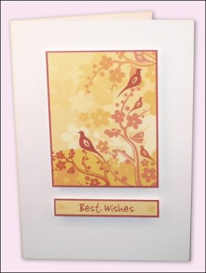 Golden Woodland Card