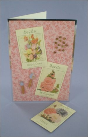 Pretty Flower Seed Packets card