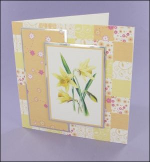 Patchwork Daffodil card