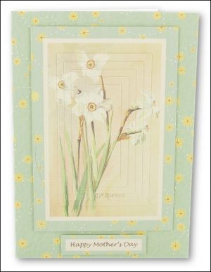 Watercolour Daffodils Pyramage card
