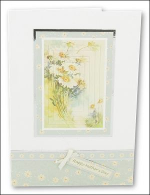 Watercolour Daisies Pyramage card