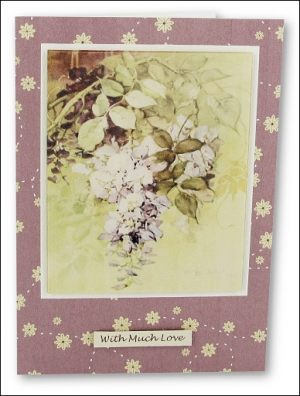 Watercolour Wisteria Notecard