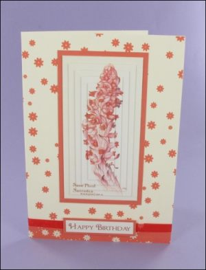 Snow Plant Pyramage Card