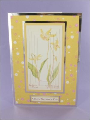 Dogtooth Violet Mother's Day Pyramage Card