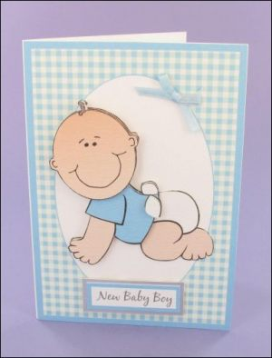 Crawling Baby Boy decoupage card
