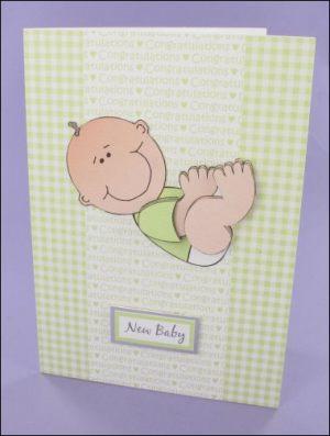 Lying Baby card