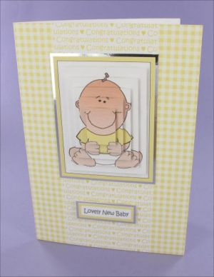 Sitting Baby Pyramage card