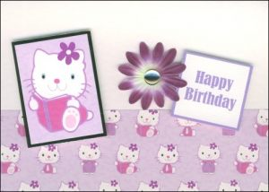 Pretty kitty card