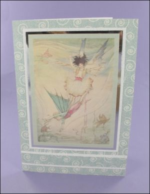 Mermaid Fairy Sparkly card