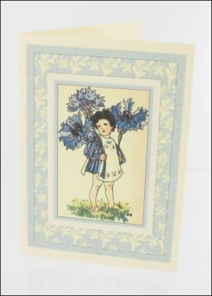 Cornflower Girl card
