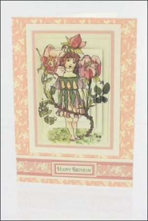 Dog Rose Girl Card