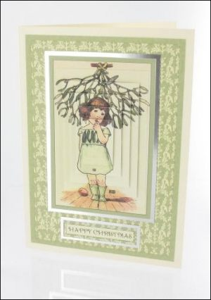 Mistletoe Girl card