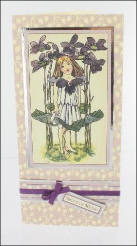 Violet Girl card