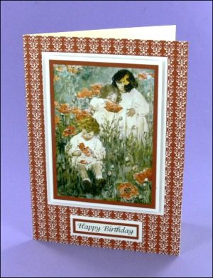 JWS Among the Poppies Birthday card