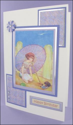 Parasol Girl card