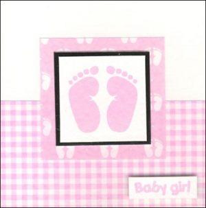 Baby feet motif card