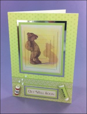 Bad Back Bear Get Well Soon card