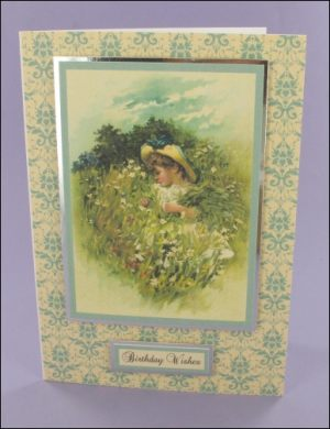 Among the Flowers card