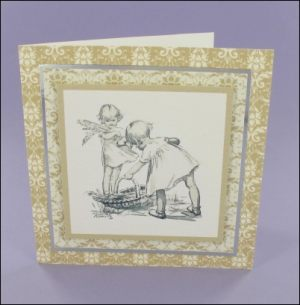 Picking Irises card