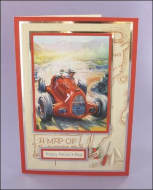 No.7 Racing Car Card