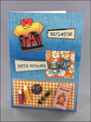 Barbeque Origami Shirt card