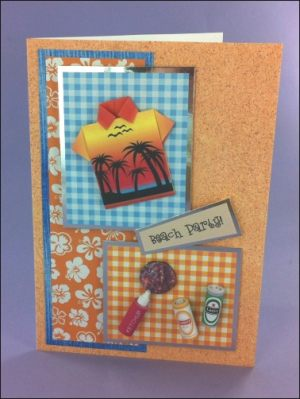 Beach Party Origami Shirt card