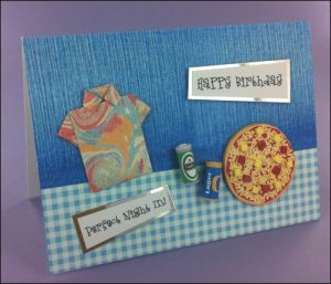 Pizza & Origami Shirt card