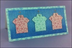 Three Origami Shirts card