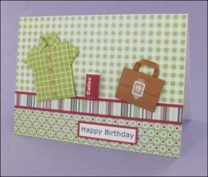 Origami Shirt & Briefcase Card